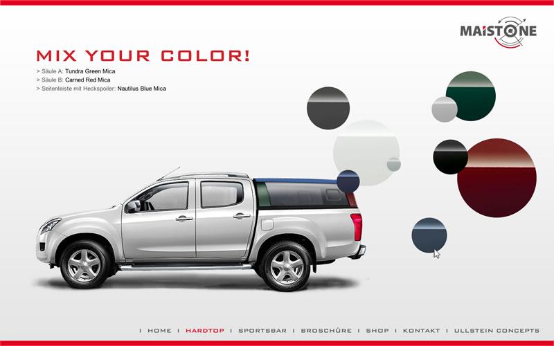 <strong>MAISTONE/ ISUZU D-MAX /</strong><br / >Website-Entwürfe