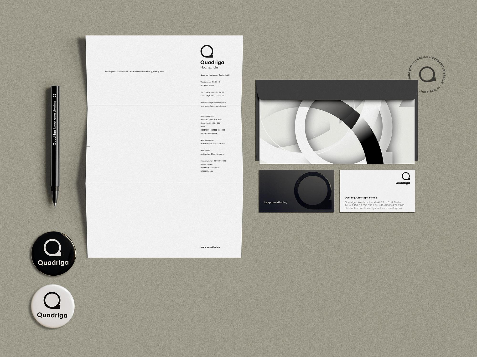 Briefpapier, VK, Buttons
