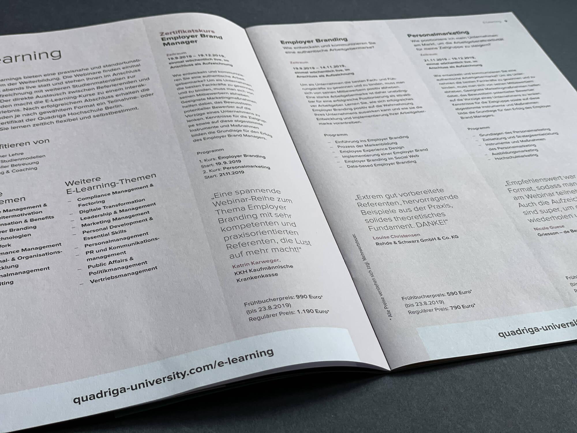 Innenseitengestaltung Broschüre