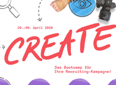 "<strong>""CREATE"" RECRUITING CONFERENCE/</strong><br/ >Visual Identity/ Webdesign"